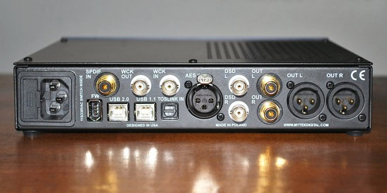 Mytek Digital Stereo192-DSD-DAC-back