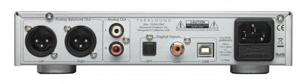 Parasound Zdac-back