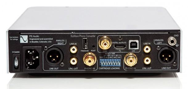 ps audio nuwave phono converter-rear