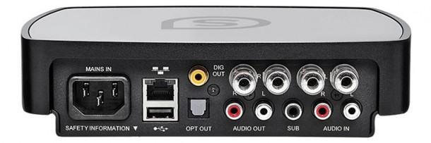 Simple Audio Roomplayer with Amp-rear
