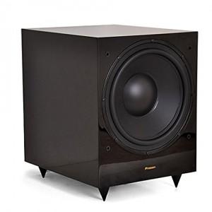 """Proson Rumble R-12 laccato lucido Nero - Subwoofer Attivo 12"""" (300 mm) per Hi-Fi e Home Cinema in Bass Reflex. Amplificatore 180/250 Watt con accensione automatica integrata. Cabinet in legno MDF laccato lucido."""