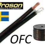 Proson Smoke 2,5 Speaker - Vendita al metro lineare - Cavo audio di potenza per Diffusori Acustici 2 x 2,5 mm. Qualità Hi-Fi per il collegamento di casse acustiche con l'amplificatore. Conduttori in Puro Rame OFC