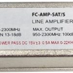 Amplificatore satellitare LNB 13 / 18 dB per segnali SAT FC-AMP-SAT/S In-line amplifier