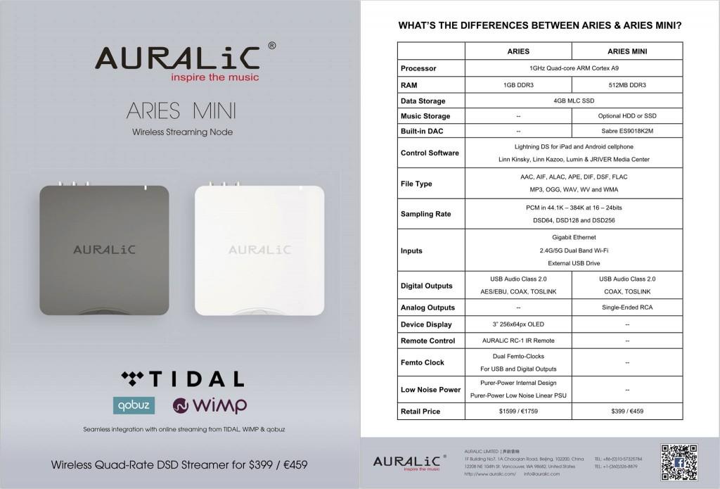 auralic aries mini caratteristiche