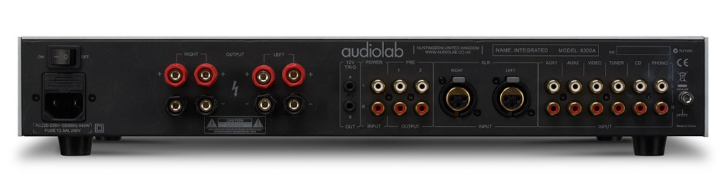 Audiolab 8300A rear