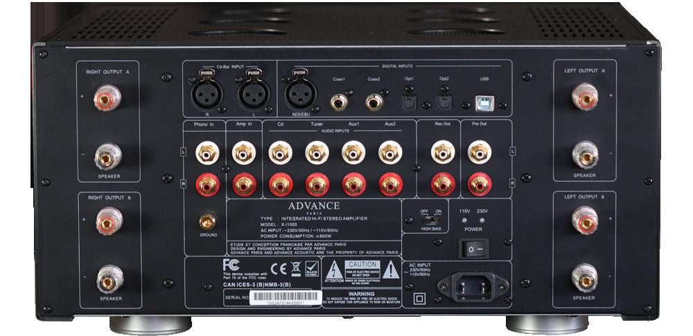 Advance Acoustic X i1000 rear