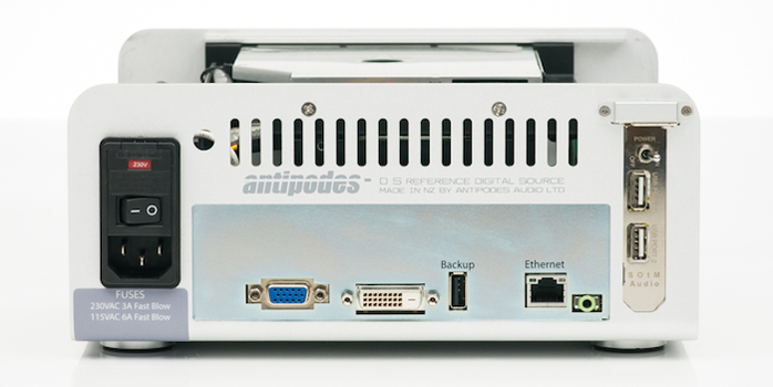 Antipodes DS Music Server-rear