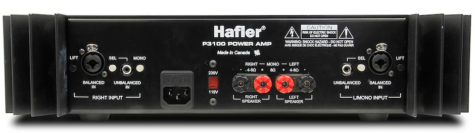 Hafler-P3100-rear