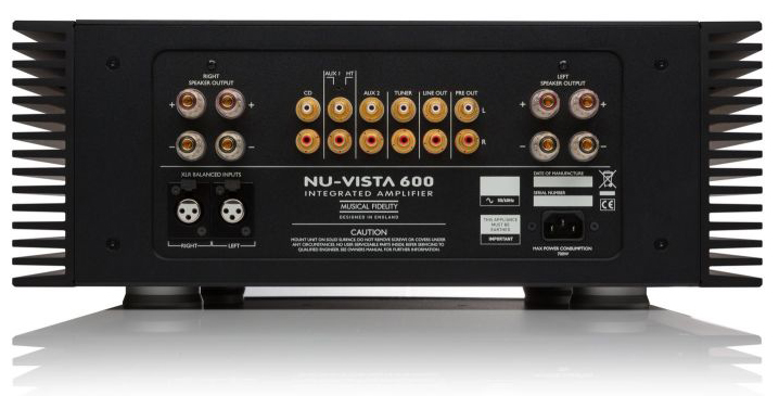 Musical Fidelity Nu Vista 600 rear