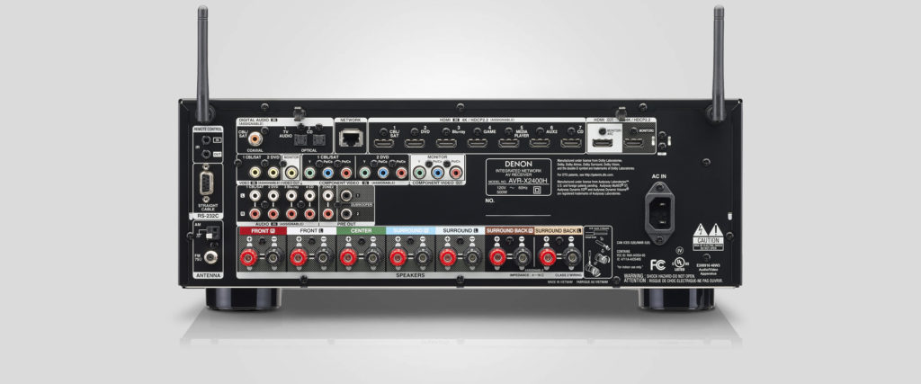 Denon AVR-X2400H rear