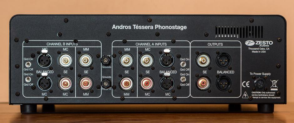 Zesto Audio Andros Tessera rear