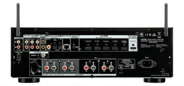 Denon DRA-800H rear